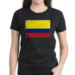 Colombian flag Women's Dark T-Shirt