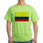 Colombian flag Green T-Shirt