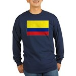 Colombian flag Long Sleeve Dark T-Shirt