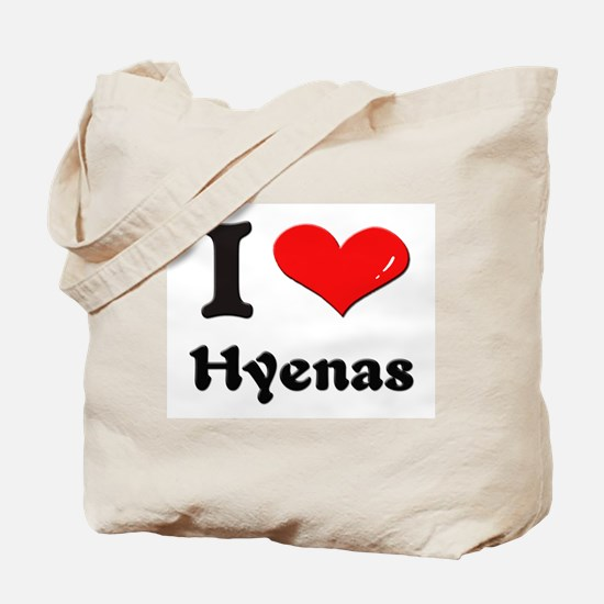 I love hyenas Tote Bag