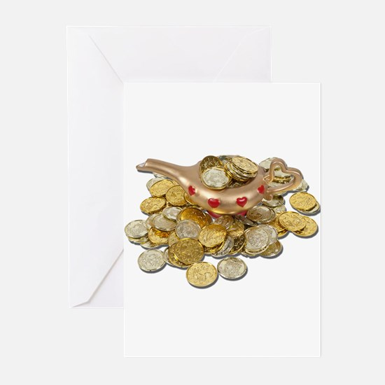 MagicLampGoldCoins052711 Greeting Cards