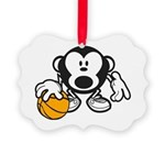 Basketball Monkey Ornament