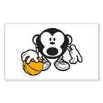 Basketball Monkey Sticker