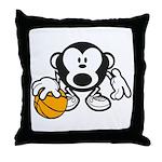 Basketball Monkey Throw Pillow