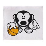 Basketball Monkey Throw Blanket