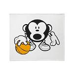 Basketball Monkey Throw Blanket