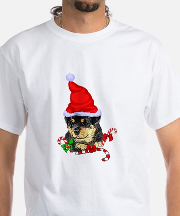 Rottweiler Puppy Christmas T-Shirt