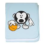Basketball Monkey baby blanket