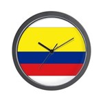 Colombian flag Wall Clock