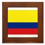 Colombian flag Framed Tile
