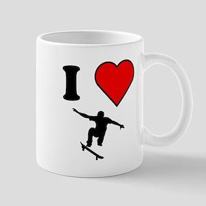 I Heart Skateboarding Mugs