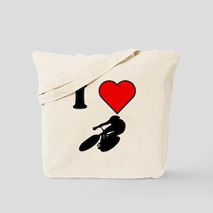 I Heart Cycling Tote Bag