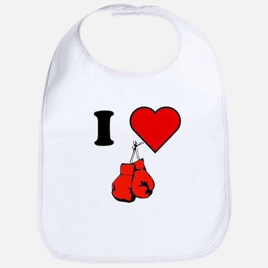 I Heart Boxing Bib
