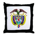 Colombia COA Throw Pillow