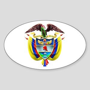 Colombia COA Oval Sticker