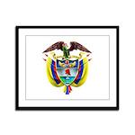 Colombia COA Framed Panel Print