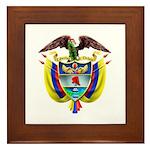 Colombia COA Framed Tile