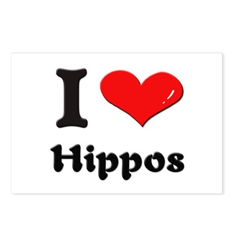 I love hippos Postcards (Package of 8)