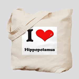 I love hippopotamus Tote Bag