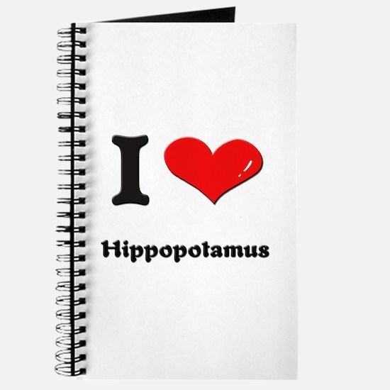 I love hippopotamus Journal