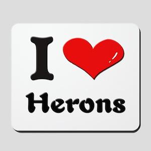 I love herons  Mousepad