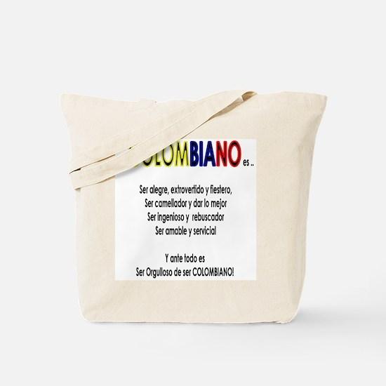 Que es ser colombiano Tote Bag