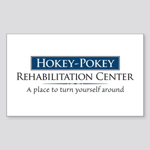 Hokey Pokey Rehab Sticker (Rectangle)
