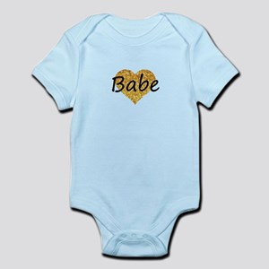 babe gold glitter heart Body Suit