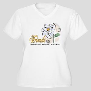 Friends... Women's Plus Size V-Neck T-Shirt