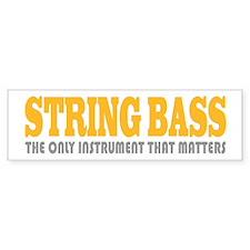 Funny String Bass Bumper Sticker