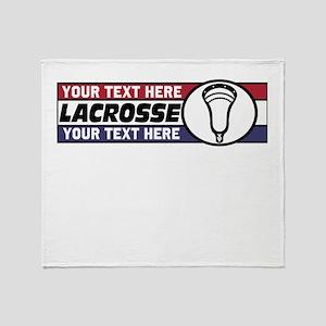 Lacrosse United v05 Custom Throw Blanket