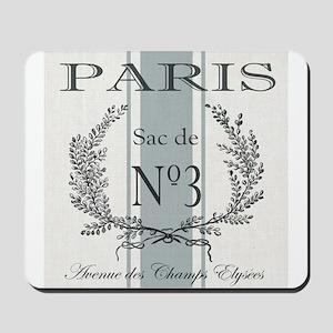 Vintage French Paris grain sac Mousepad
