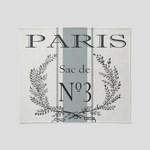 Vintage French Paris grain sac Throw Blanket