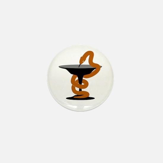 Bowl of Hygeia Mini Button