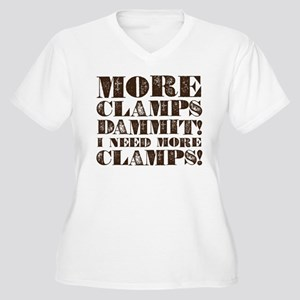More Clamps Women's Plus Size V-Neck T-Shirt