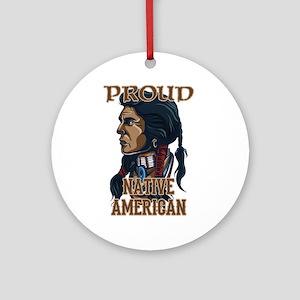 proud native american 3 Ornament (Round)