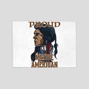 proud native american 3 5'x7'Area Rug