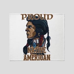 proud native american 3 Throw Blanket