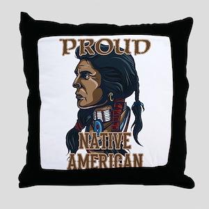 proud native american 3 Throw Pillow