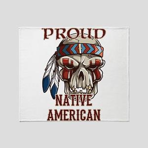 proud native american 4 Throw Blanket