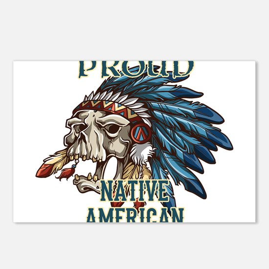 proud native american 5 Postcards (Package of 8)