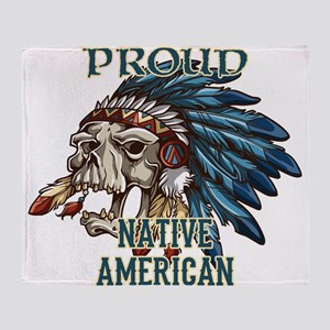 proud native american 5 Throw Blanket