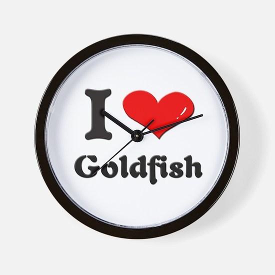 I love goldfish  Wall Clock