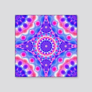 "Tribal Mandala 2 Square Sticker 3"" x 3"""