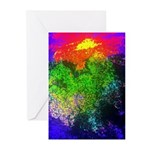 Blooming nebula Greeting Cards