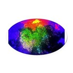 Blooming nebula Oval Car Magnet