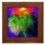 Blooming nebula Framed Tile