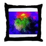 Blooming nebula Throw Pillow