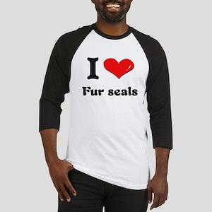 I love fur seals Baseball Jersey