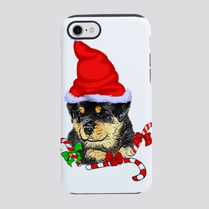 Rottweiler Puppy Christmas iPhone 7 Tough Case